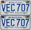 1978 British Columbia pair # VEC-707