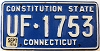 1979 CONNECTICUT Constitution State license plate # UF-1753