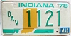 1978 Indiana Disabled Veteran graphic # 1121