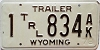 1978 Wyoming Trailer # 834, Natrona County