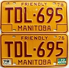 1979 Manitoba friendly pair # TDL-695