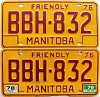 1979 Manitoba friendly pair # BBH-832