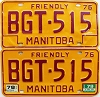 1979 Manitoba friendly pair # BGT-515