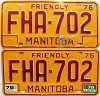 1979 Manitoba friendly Farm Truck pair # FHA-702