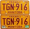 1979 Manitoba friendly Truck pair # TGN-916