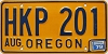 1979 Oregon license license plate # HKP-201