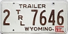 1980 Wyoming Trailer # 7646, Laramie County