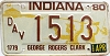1980 Indiana Disabled Veteran graphic # 1513