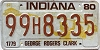 1980 Indiana George Rogers Clark graphic # 99H8335