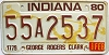 1980 Indiana George Rogers Clark graphic # 55A2537