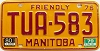 1980 Manitoba friendly Truck # TUA-583