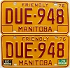 1980 Manitoba friendly pair # DUE-948