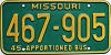 1980 Missouri Apportioned Bus # 467-905