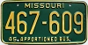 1980 Missouri Apportioned Bus # 467-609