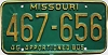 1980 Missouri Apportioned Bus # 467-656