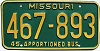 1980 Missouri Apportioned Bus # 467-893
