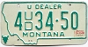 1980 Montana Used Car Dealer # 434-50, Missoula County