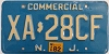1982 NEW JERSEY Commercial license plate # XA-28CF