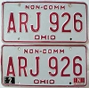 1980 Ohio Non Commercial # ARJ-926