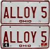 1980 Ohio pair # ALLOY 5