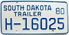 1980 South Dakota House Trailer # H-16025