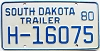 1980 South Dakota House Trailer # H-16075