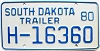 1980 South Dakota House Trailer # H-16360
