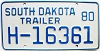 1980 South Dakota House Trailer # H-16361
