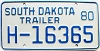1980 South Dakota House Trailer # H-16365
