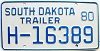 1980 South Dakota House Trailer # H-16389