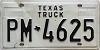 1980 base TEXAS TRUCK license plate # PM-4625