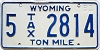1981 Wyoming Ton Mile Tax #5-2814