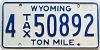 1981 Wyoming Ton Mile Tax #4-50892