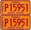 1981 HAWAII FLEET AUTO license plates pair # P15951