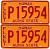 1981 HAWAII FLEET AUTO license plates pair # P15954