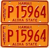 1981 HAWAII FLEET AUTO license plates pair # P15964