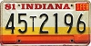 1981 Indiana graphic # 45t2196