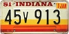 1981 Indiana graphic # 45v913
