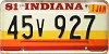 1981 Indiana graphic # 45v927