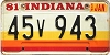 1981 Indiana graphic # 45v943