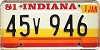 1981 Indiana graphic # 45v946