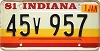 1981 Indiana graphic # 45v957