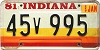 1981 Indiana graphic # 45v995