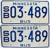 1981 Minnesota School Bus pair # 03-489