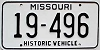1981 Missouri Historic Vehicle # 19-496