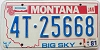 1981 MONTANA BICENTENNIAL graphic license plate # 4T-25668