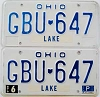 1981 Ohio pair # GBU-647