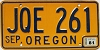 1981 Oregon license license plate # JQE-261