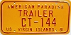1981 US Virgin Islands Trailer # CT-144