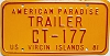 1981 US Virgin Islands Trailer # CT-177